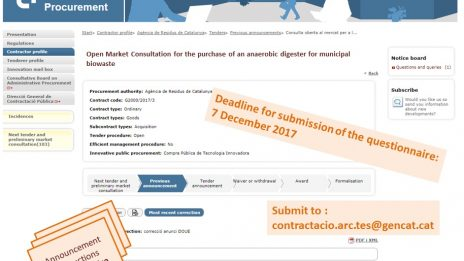 The Waste Agency Of Catalonia Has Launched An Open Market Consultation Prior To A Tender For A Micro Anaerobic Digester